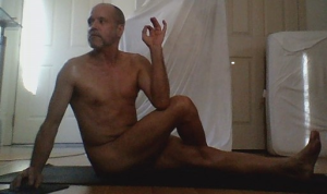 Healthy Lifestyle Yoga Practice in the Hot Sensual California Desert