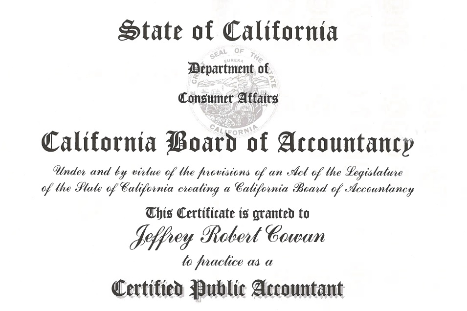 jeffrey robert cowan accountancy image • Investigator