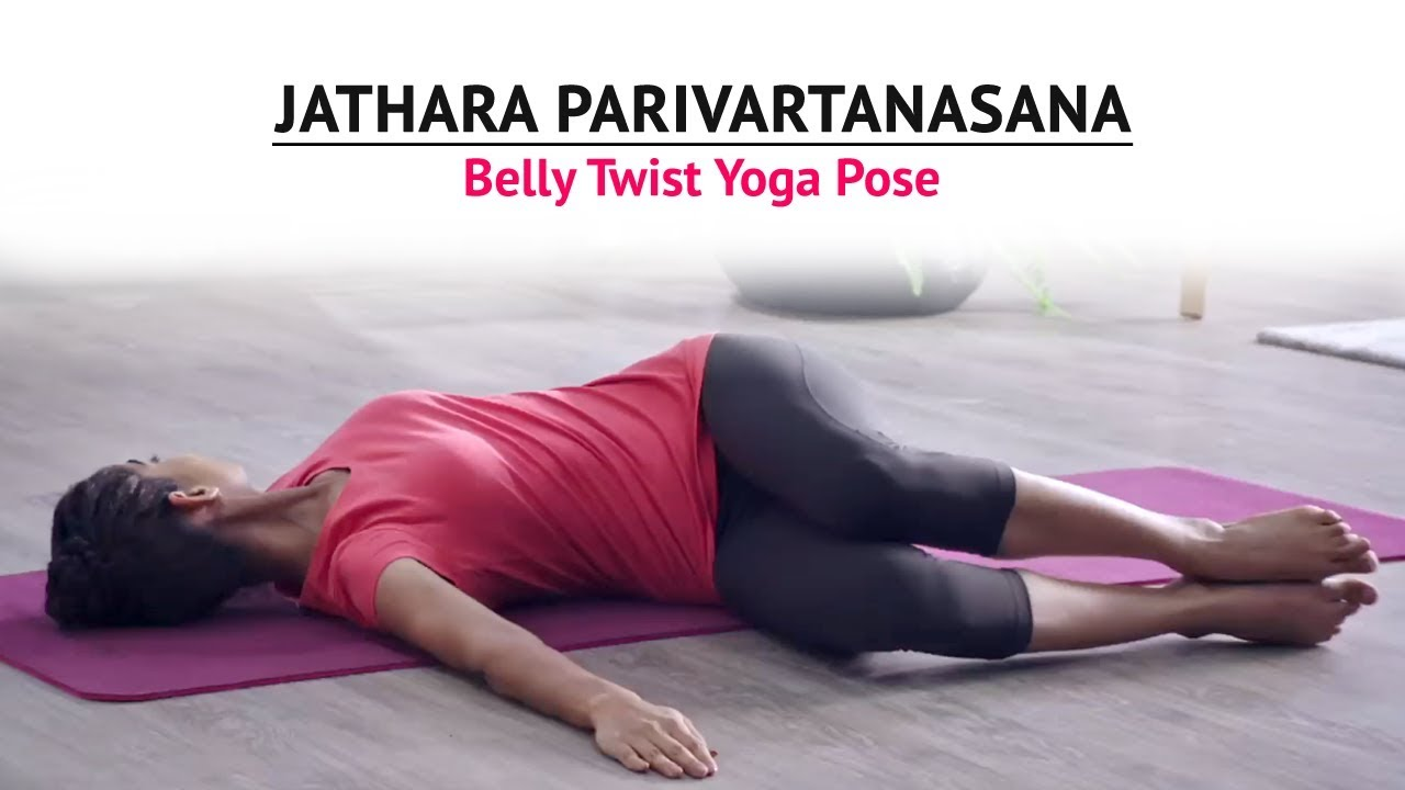 half belly twist with sanskrit