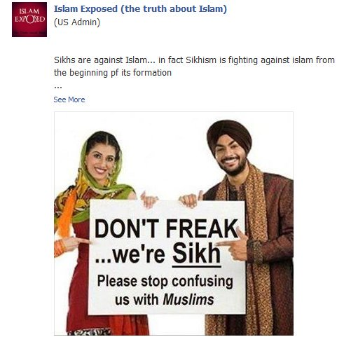 Sikh Anti-Muslim Hate Speech