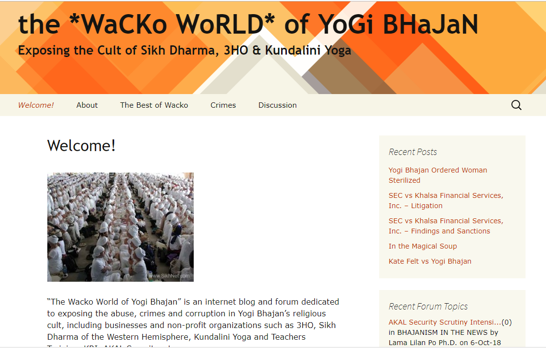 screen shot wacko world yogi bhajan