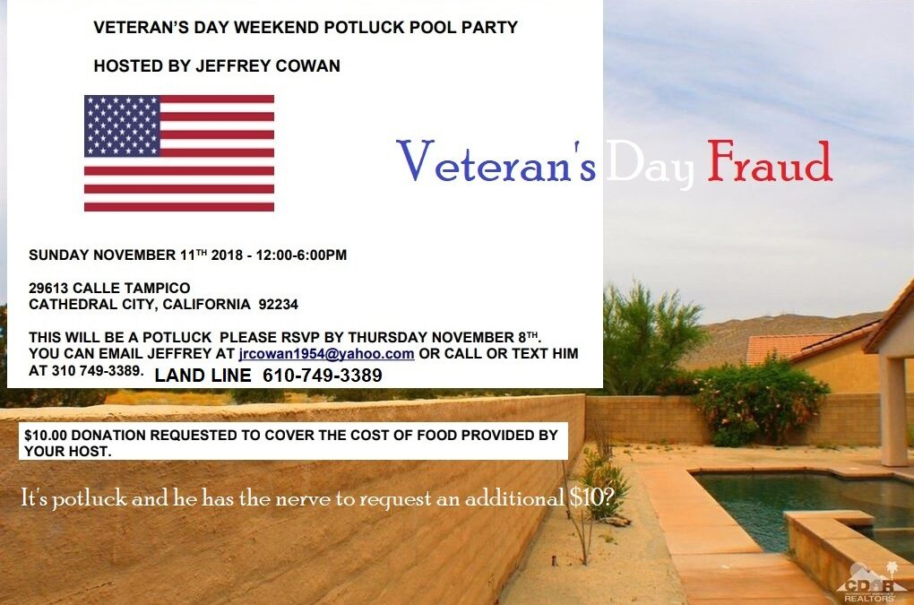 Giving Yourself Your Own Birthday Party and Calling it Veteran's Day is a Gay Bait & Switch Tactic