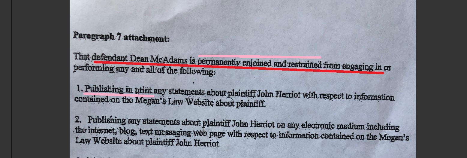 "Herriot's defective pleadings fail to include any mention of ""LegalNoodle"""