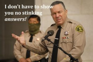 sheriff alex villanueva no stinking answers
