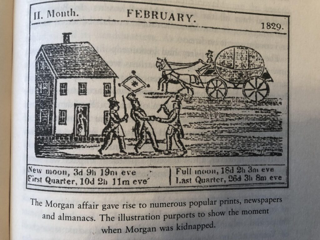 illustration from the craft by john dickie purports show moment william morgan kidnapped