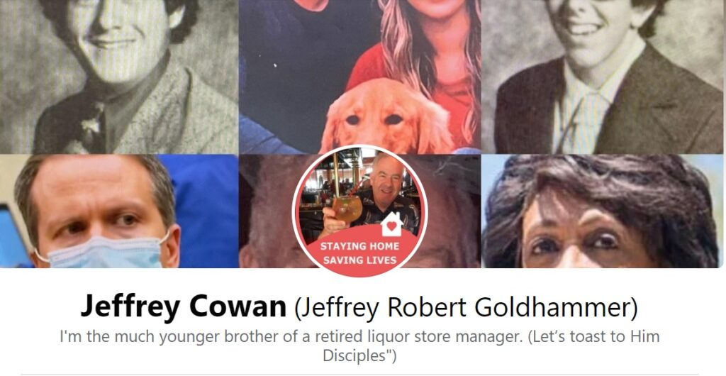 jeff cowan fraudulent use of his brother alan golldhammer's photo