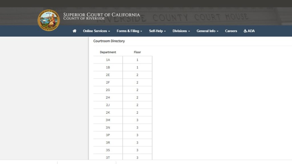find free criminal information for court department here